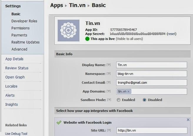 cài đặt facebook app - hoangweb.com
