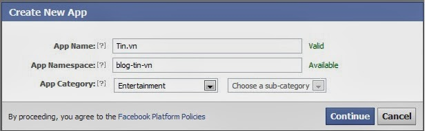 Create facebook app  -hoangweb.com