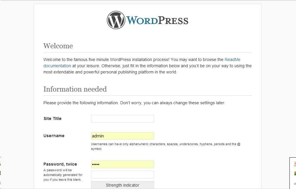 Các bước cài đặt wordpress - hoangweb.com