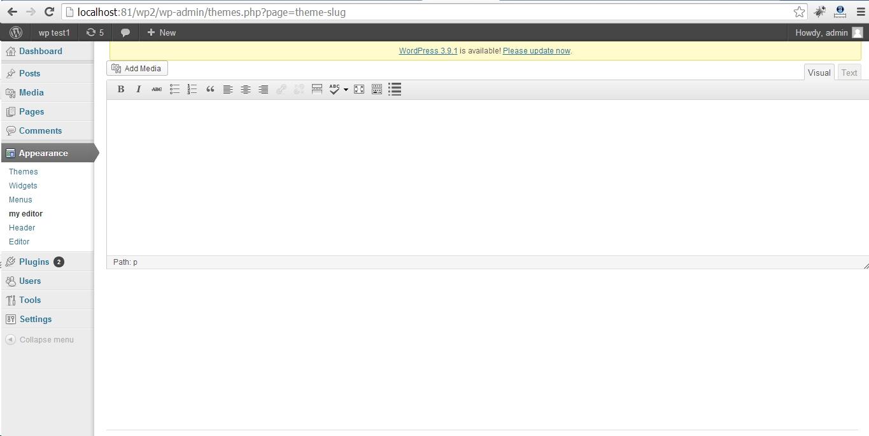 tinyMCE editor wordpress - hoangweb.com