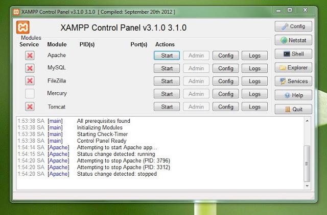 xampp control panel - hoangweb.com