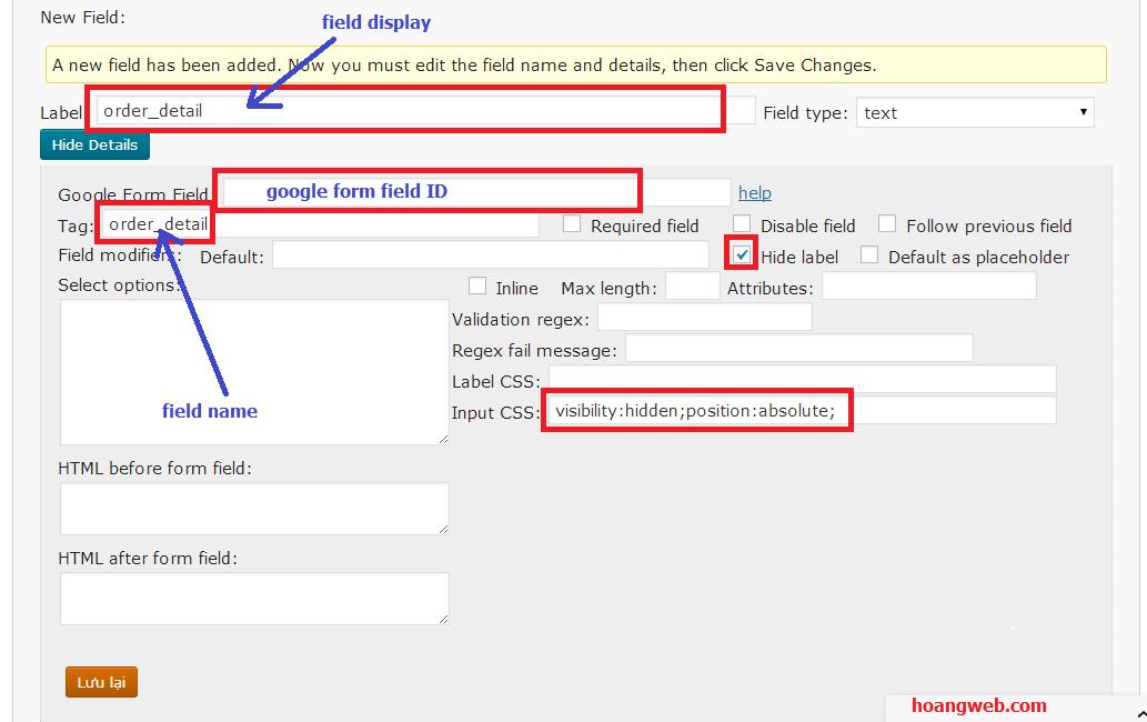 form đặt hàng wordpress