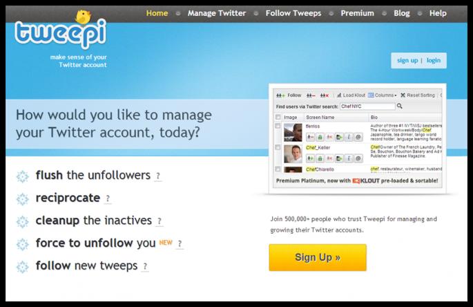 công cụ quản lý mạng xã hội Twitter