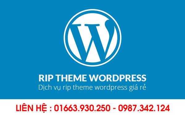 Hướng dẫn RIP giao diện website – Nhận RIP Theme WordPress giá rẻ