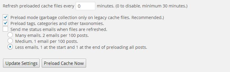 tăng tốc wordpress với wp-super-cache-preload