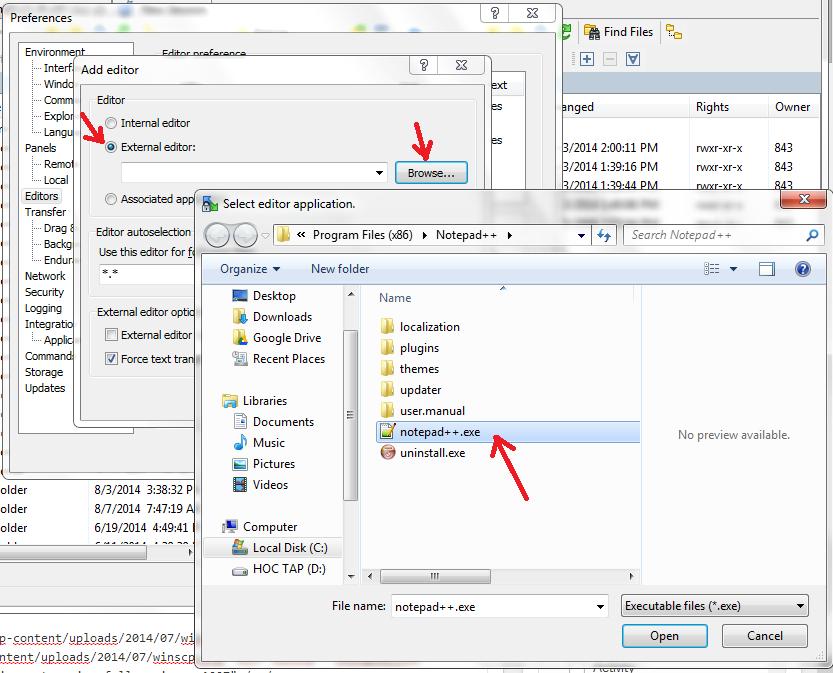 notepad++ winscp ftp