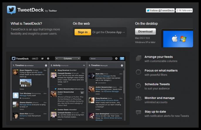 xây dựng thương hiêu với tweetdeck