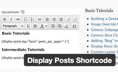 hiển thị Posts bằng Shortcode wordpress plugin