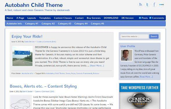 autobahn genesis child theme miễn phí