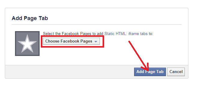 cài facebook app cho fanpage