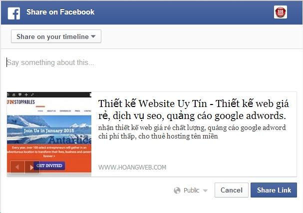 chia sẻ bài viết lên mạng xã hội facebook