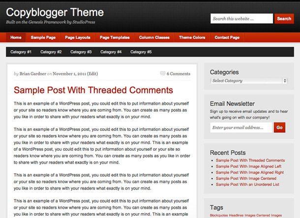 copyblogger genesis child theme miễn phí