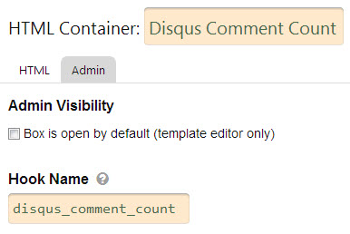 Disqus Commnent Counter