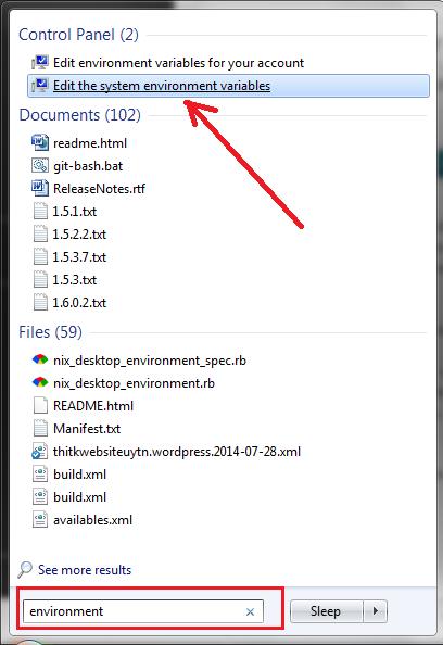environment variables windows