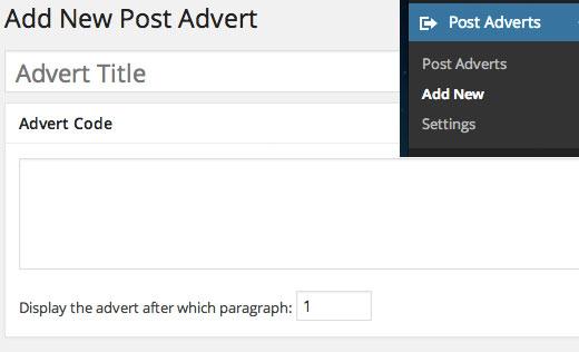 chèn quảng cáo vào nội dung bài viết trong wordpress