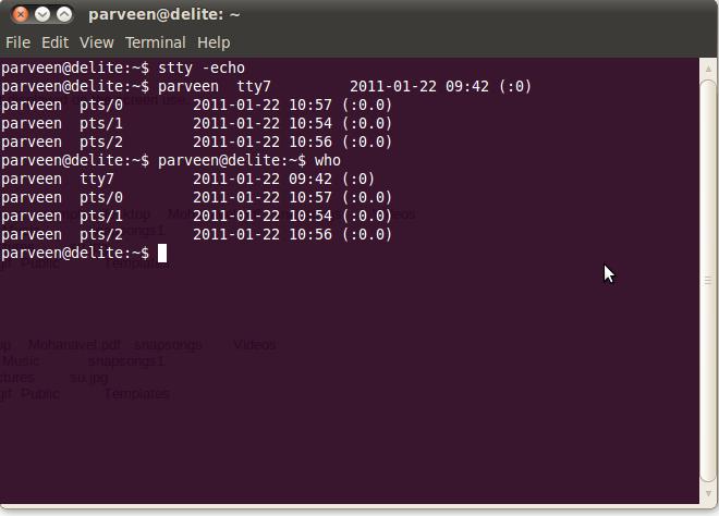linux terminal command-line
