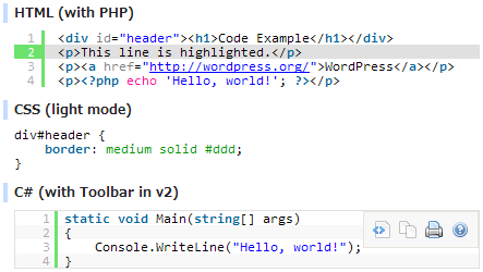 làm đẹp code với syntax highlighter