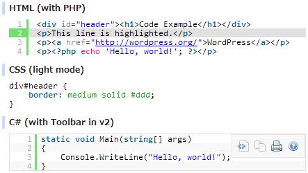 làm đẹp code cho website với syntax highlighter