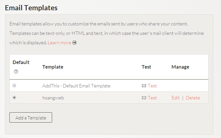 Tạo email templates