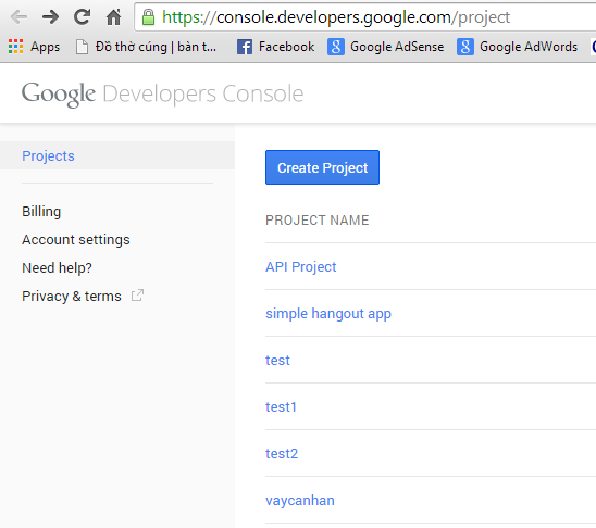 google-console-project
