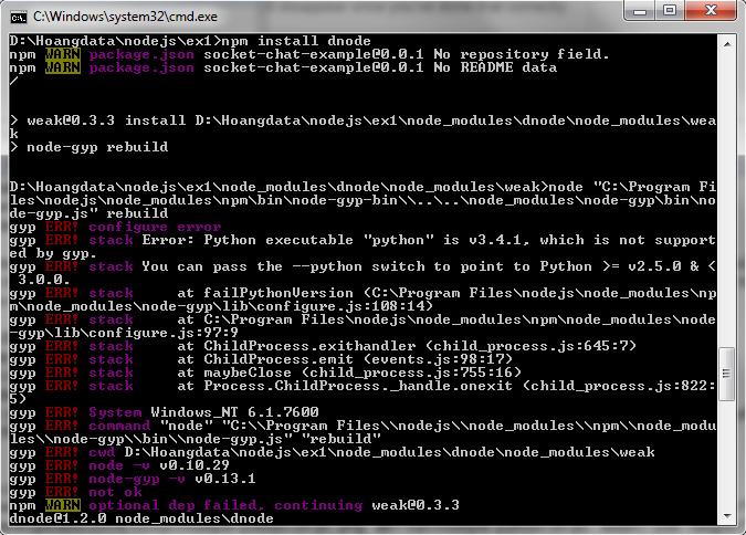 install-dnode-error