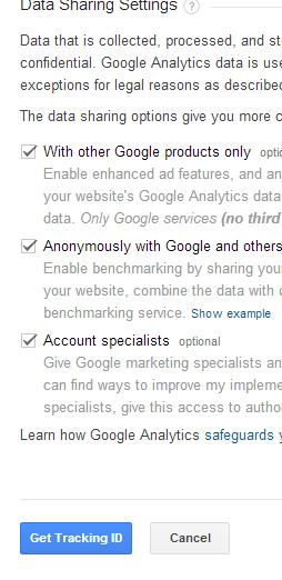 Cài đặt google analystic