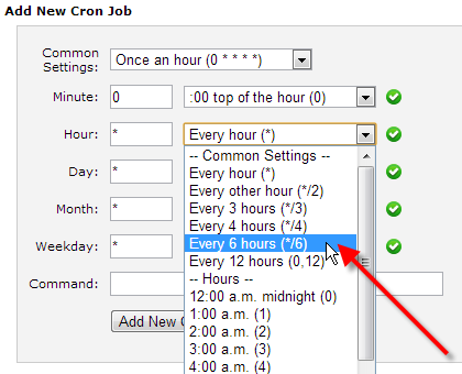 select-every-6-hours-from-hour-field