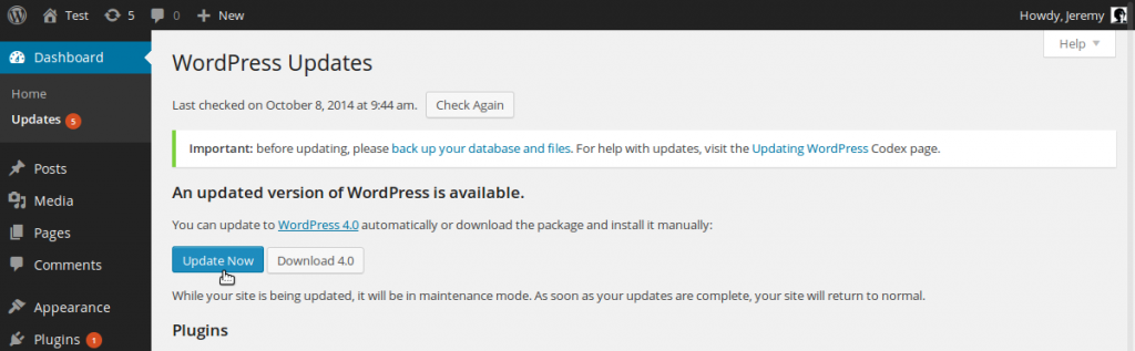 update-wordpress-now