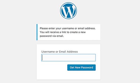 quên mật khẩu đăng nhập WordPress