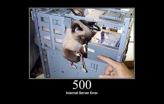 lỗi 500 internal server error