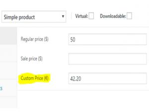 Thêm giá tùy chỉnh trong WooCommerce
