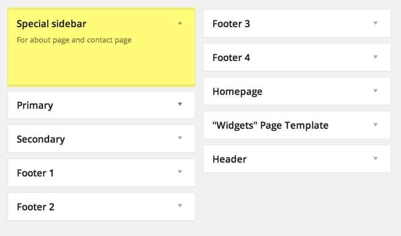 chọn sidebar wordpress