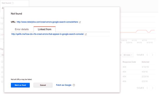Khắc phục lỗi thu thập dữ liệu trong Webmaster Tools (Google Search Console)