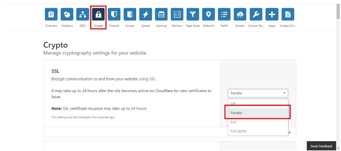 request cloudflare flexible ssl certificate wordpress