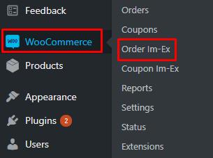 woocommerce export order