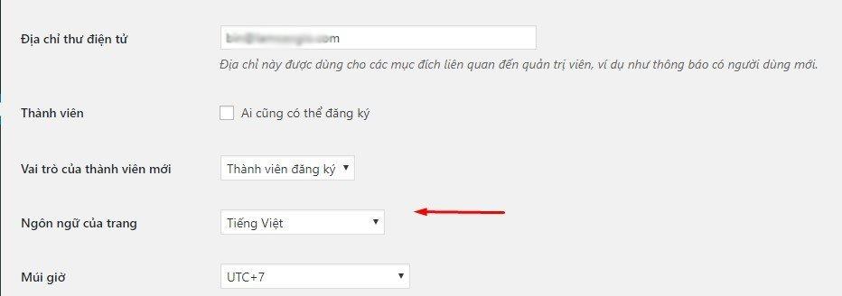cài ngôn ngữ cho website