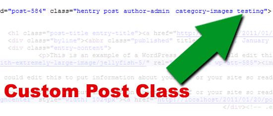 tùy chỉnh post class