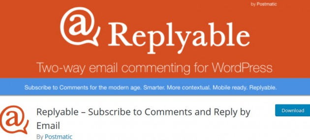 replyable comment plugin