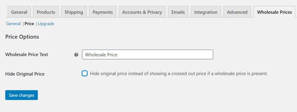 cấu hình hiển thị giá bán buôn